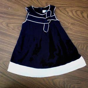 Mayoral navy sleeveless dress 6m